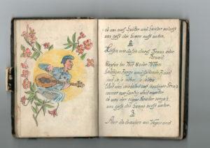 Seite aus Liederbuch.