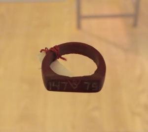 """""""Ring aus Kunststoff"""", V754 D1, Foto: Alina Welp/FU Berlin. MGR/SBG V754 D1"""