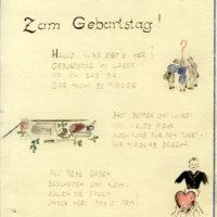 """Geburtstagskarte"", Foto: MGR/SBG V 977 F3"
