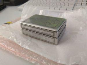 Aluminiumschachtel, verziert