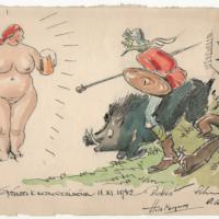 Zeichnung für Ervín Černý, Scan: GUMS/SBG Signatur: 95.00530